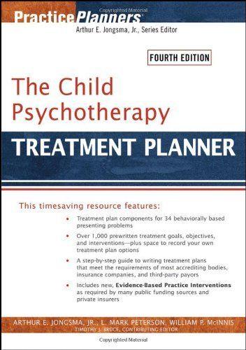 The Child Psychotherapy Treatment Planner (Practice Planners) by Arthur E. Jongsma Jr., http://www.amazon.com/dp/0471785350/ref=cm_sw_r_pi_dp_PB.qrb1H47MTZ