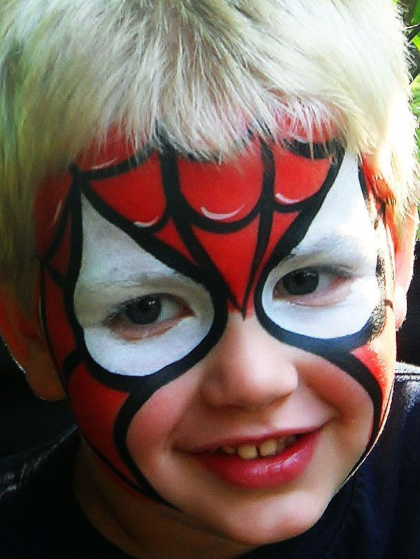 spiderman face paint - Google Search