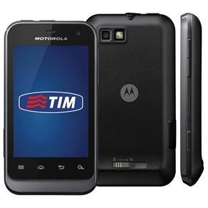 Celular Desbloqueado Tim Motorola Defy Mini XT320 Preto com c/ Câmera 3MP, 3G, Wi-Fi, GPS, MP3, FM, Bluetooth, Fone de Ouvido e Cartão de 2GB