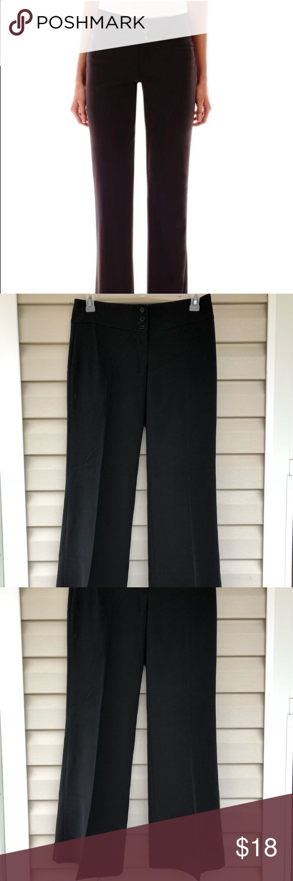 "Hollywood 'perfect fit' Waistband Slacks/Pants Black stretch women's slacks with a 3-button closure waistband. Slight Flare fit with an inseam length of 31"". Size 7. Spring Street Pants Trousers"