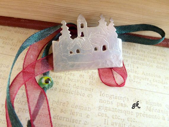 Santa Clause village Sterling silver ornament by GeorgiaCollection, €38.00