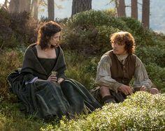 "Jamie (Sam Heughan) and Claire (Caitriona Balfe) in Episode 106 ""The Garrison Commander"" | Outlander on Starz via http://www.starz.com/originals/outlander/s1/e106"