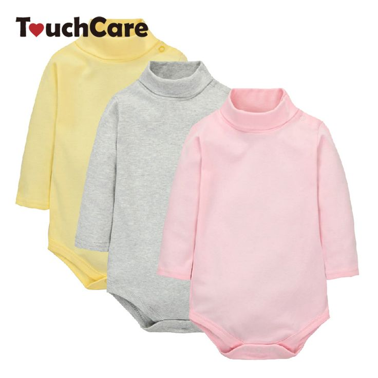 Newborn Winter Cotton Baby Boy Girl Rompers Infant Solid Turn-down Collar Jumpsuit Candy Color Long Sleeve Roupa De Bebe Clothes