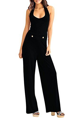 Special Offer: $22.99 amazon.com Material: polyester and spandexSoft, cozy, stretchyHalter, scoop neck, open back, sleeveless, long loose pantsOccasion: casual daily, leisre wear, street, going out, night out, etcCustomized styles for 2017 summer