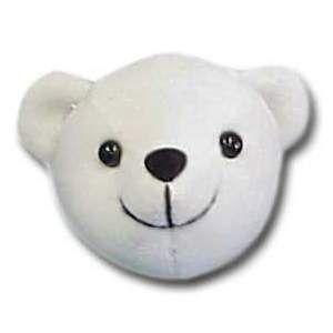 """130 - Wholesale Teddy Bears - 3"""" White Teddy Bear Head"""