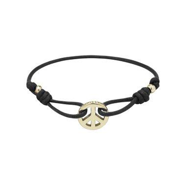 Mulberry Gift Kaleidoscope | Black - Peace Friendship Bracelet in Black Waxed Cord