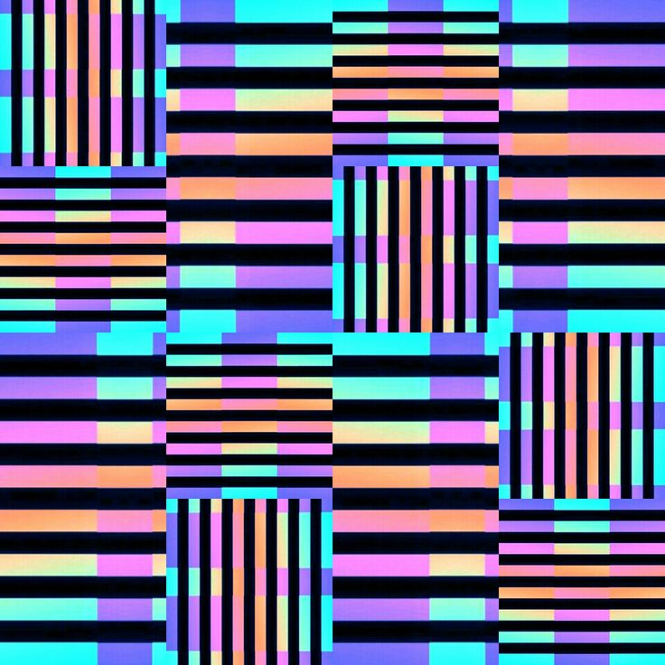 Psicodelia lineal cuadrada . Textil. Diseño. Print