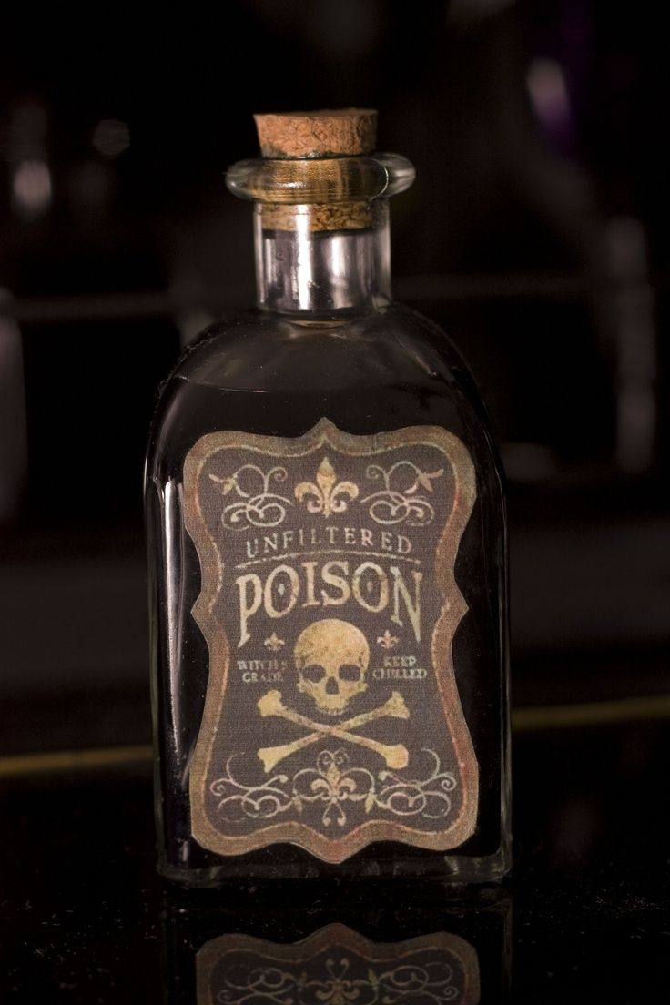 Poison Glass Bottle -MP | Don't Drink the Poison ...