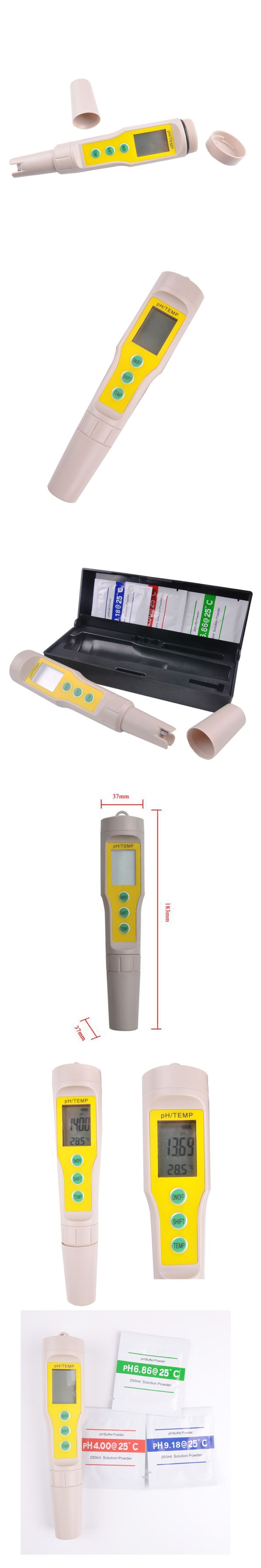 Electronic digital display double pH meter, water pH meter, portable pH meter professional, free shipping