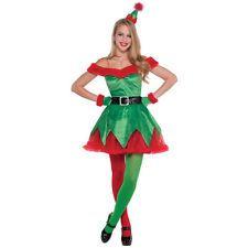 Size L Ladies Sexy Santas Little Helper Elf Costume Christmas Xmas Fancy Dress