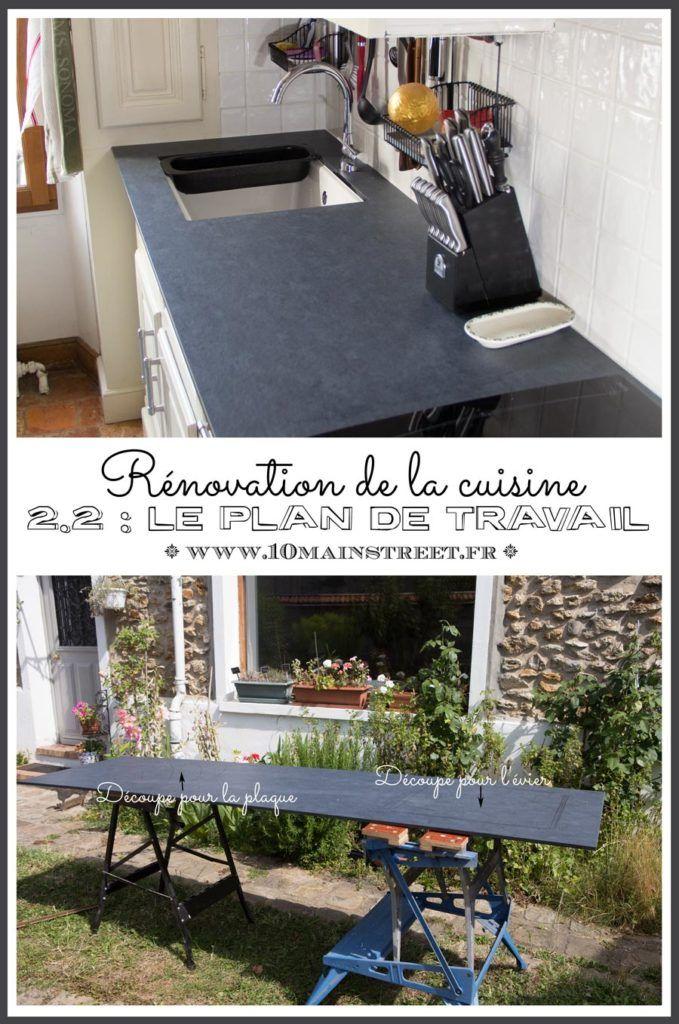 48 best Notre cuisine Our kitchen images on Pinterest Main - pose d un plan de travail cuisine