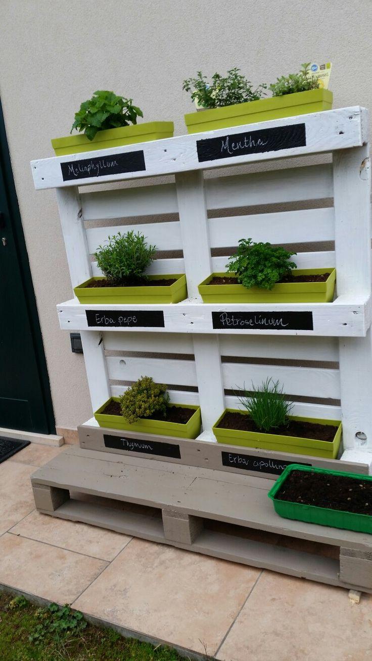 Pallet giardino verticale