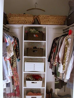 Pinner Said: This Is My Closet! Never Thought About Putting Storage Along  The Exposed Wall. Have A Full Size Mirror There Now, Could Move To Closet  Door.