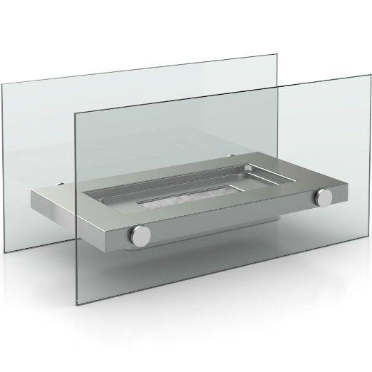 Firefriend DF-6508 - Chimenea (34 cm, 16 cm, 17 cm, Plata, Transparente)
