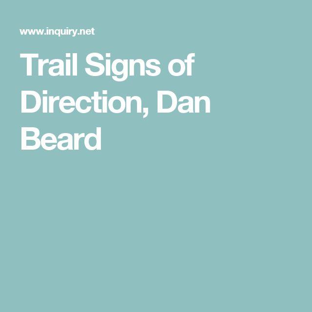 Trail Signs of Direction, Dan Beard