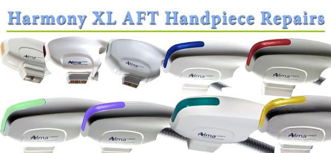 We repair all Alma Harmony & Harmony XL handpieces (Cooled & Non-Cooled). OEM Parts in Stock. Repaired w/in 48 hrs. Get FREE troubleshooting & a Free quote.