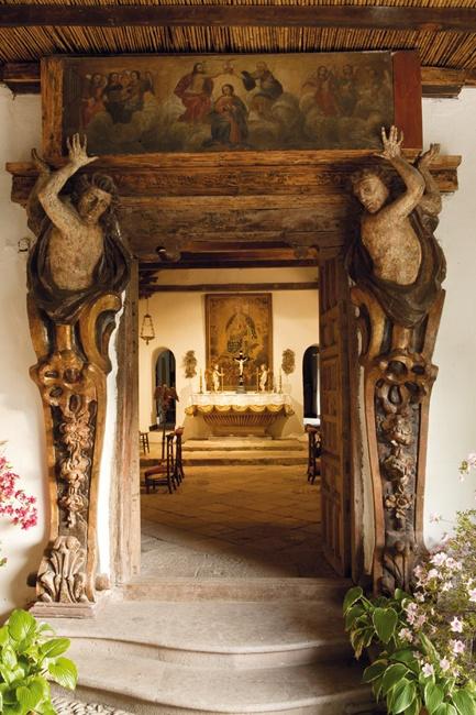 Chapel ,Colonial House XVIII ,Larrain Family. Santiago Chile