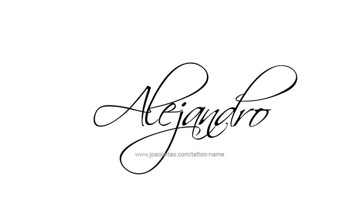 Tattoo Design Name Alejandro