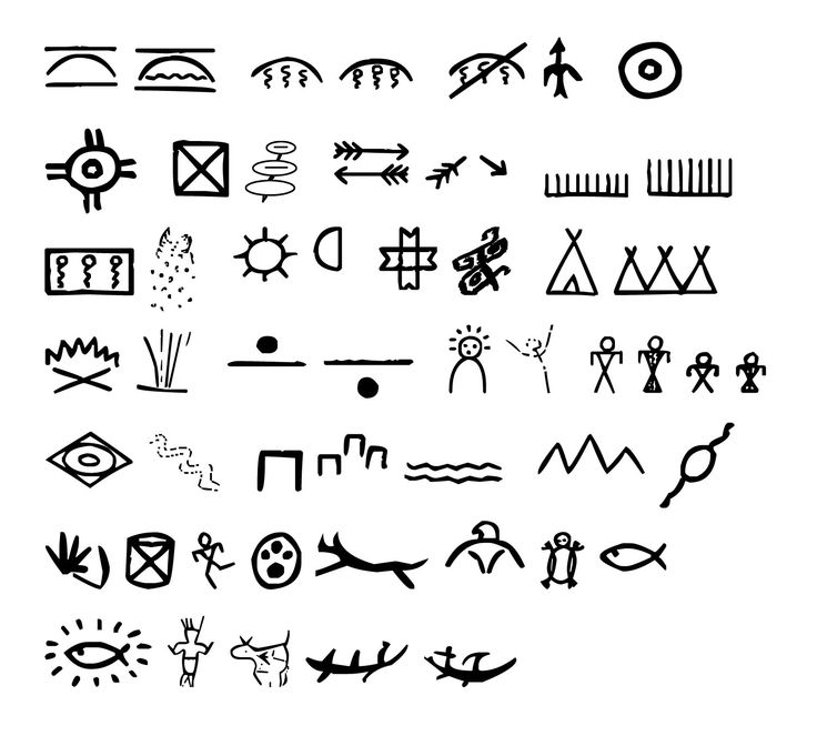 Cherokee Indian Writing And Symbols