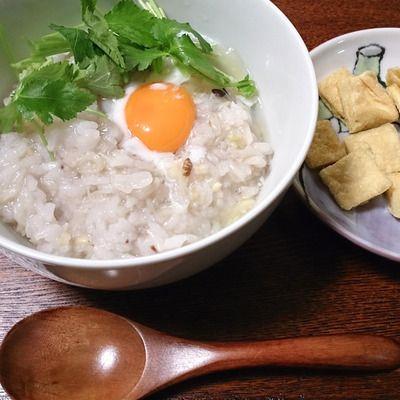 雑穀アレンジレシピ】帆立の水煮缶で絶品、とろ~り卵の雑穀中華粥 ...