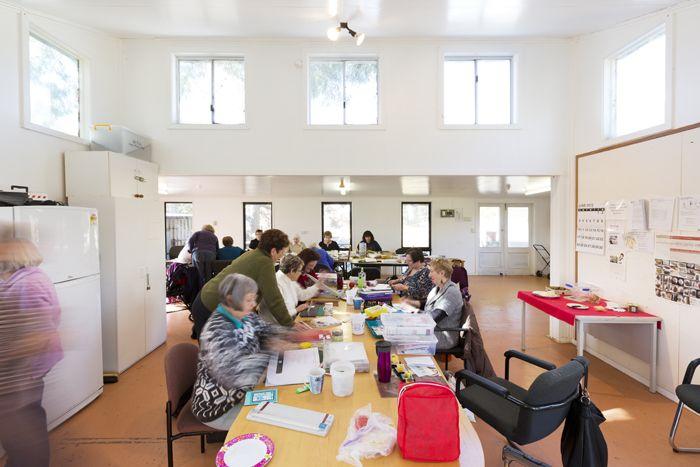 A workshop in progress, Village Hall, Strathnairn