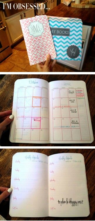 Agendas - custom-build your own pocket agenda, complete with monogram! cuuuute!