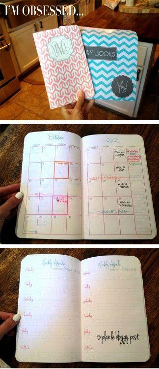 Diy Notebook Calendar : Agendas custom build your own pocket agenda complete