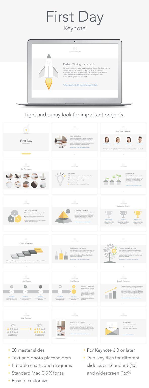 First Day Keynote Template #design #slides Download: http://graphicriver.net/item/first-day-keynote-tempale/13563766?ref=ksioks