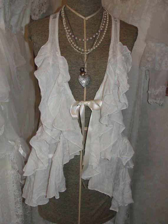 Shabby chic gypsy boho romantic lace tunic by SummersBreeze