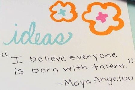 Maya Angelou talent quote