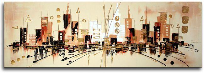 Dit kunstschilderij heeft van Ines deze keer eens geen felle moderne kleuren gekregen.