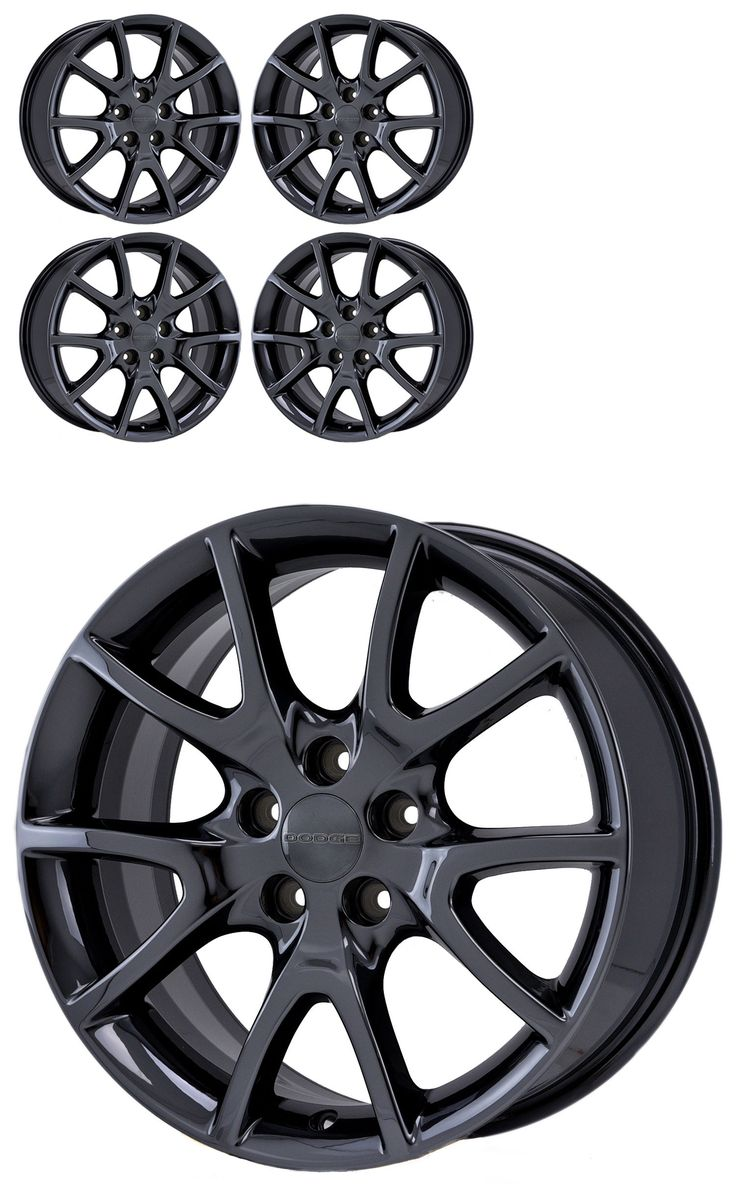 auto parts - general: 17 Dodge Dart Pvd Black Chrome Wheels Rims 2013-2016 Factory Oem 2445 Exchange -> BUY IT NOW ONLY: $599.0 on eBay!