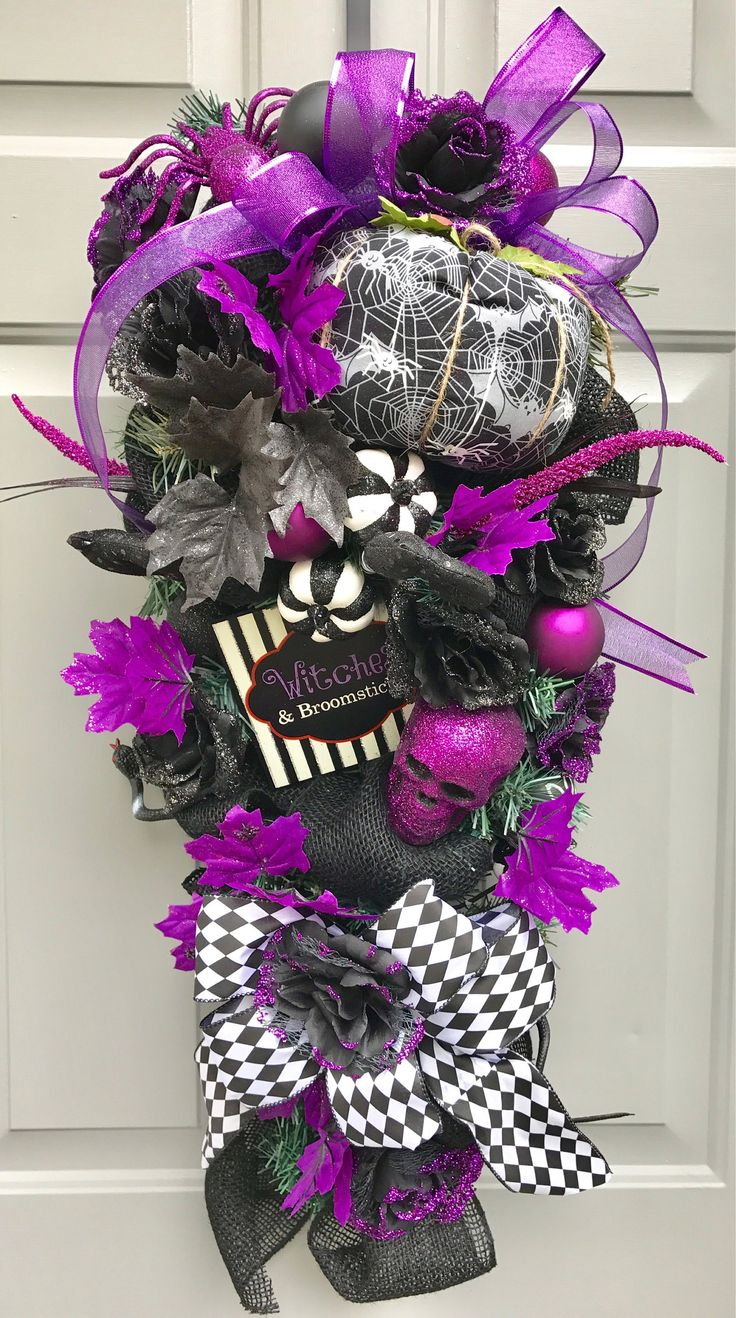 Wreath Halloween Tutorial Mesh Deco