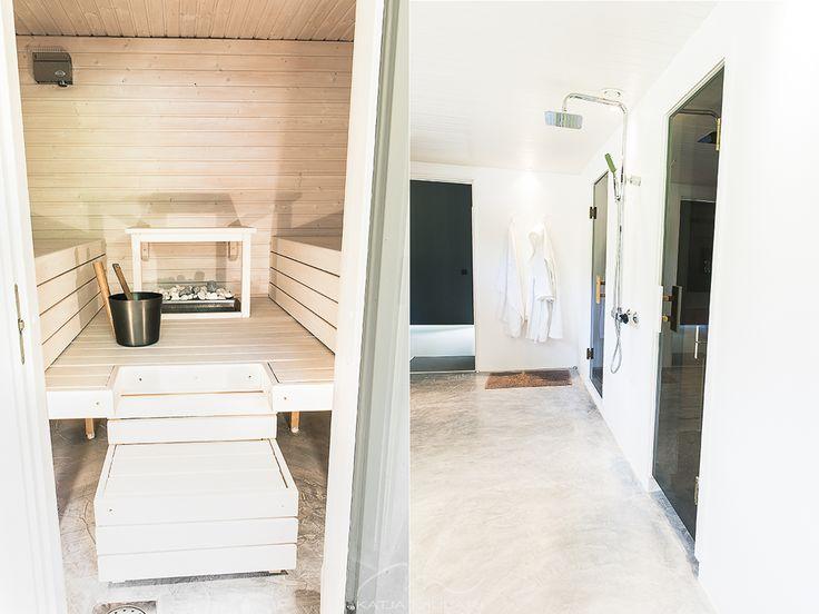 Finnish Sauna and bathroom. Katin Kokeelliset Remontit: kesäkuu 2014