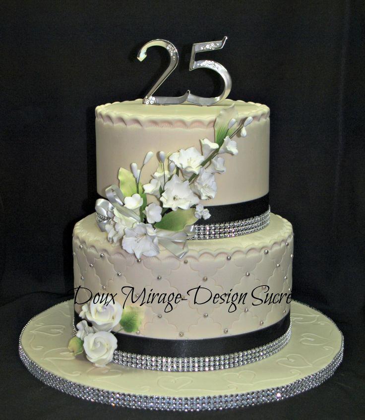 Les 25 meilleures id es de la cat gorie g teaux du 25e for Decoration 40 ans de mariage