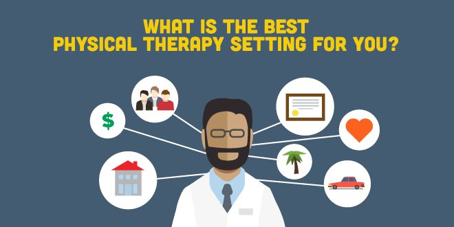 Find out the best physical therapy setting for YOU, based on your likes/dislikes, life circumstances, and overall job preferences.