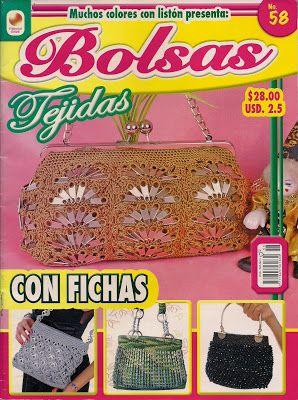 Revista de bolsas tejidas en crochet
