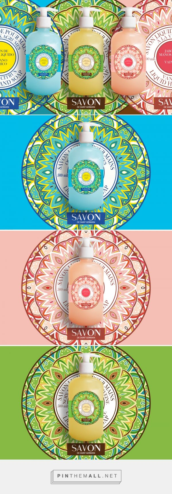 Jabones Savon de Saint Germain by Gaby Herres. Source: Behance. Pin curated by #SFields99 #packaging #design #inspiration #beauty #cosmetics