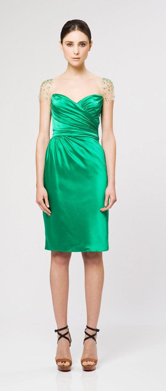 Vestido verde esmeralda / Reem Acra: