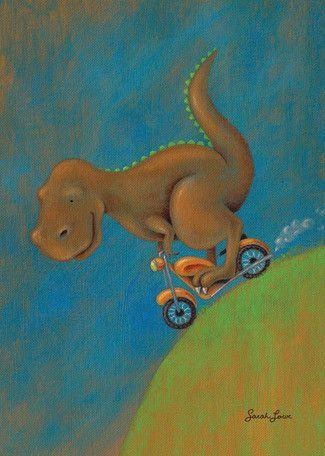 Dinosaur Dash T-Rex Canvas Art