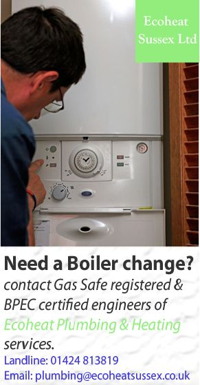 """Need a Boiler change? Contact """"Ecoheat Plumbing & Heating"""", the leading and well-reputable company in domain of heating and plumbing services across parts of Sussex and Kent. Our plumbing and heating engineers are Gas Safe registered (previously Corgi) and BPEC certified. Landline: 01424 813819 Email: plumbing@ecoheatsussex.co.uk"""