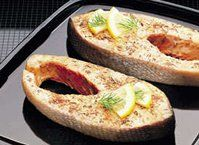 Let Herbed Salmon Steaks be the beginning of a wonderful dinner for two.  Add baked potatoes, steamed fresh asparagus and sourdough rolls for a scrumptious meal!