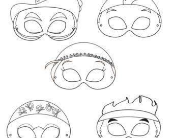 Neverland Pirates Printable Coloring Masks, printable pirate masks, pirate masks, coloring masks, cartoon pirates, hook, parrot mask, pirate