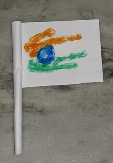 Rolled Paper India Flag!!