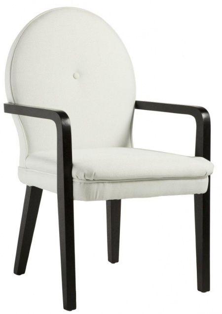 Это кресло – настоящая находка для любителей классического сочетания черного и белого цветов. Каркас кресла выполнен из дерева. Ножки и подлокотники выполнены в черном цвете, а мягкая спинка и сиденье кресла обиты светлой натуральной льняной тканью. Кресло очень удобное, и оно будет уместно как в гостиной, так и в столовой.             Материал: Ткань.              Бренд: DG Home.              Стили: Классика и неоклассика, Лофт.              Цвета: Белый.
