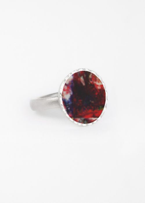 Isabel McIvor RED CAVE Round Statement RING