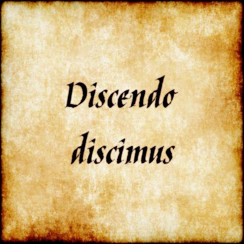 Discendo discimus - While teaching we learn. #latin #phrase #quote #quotes