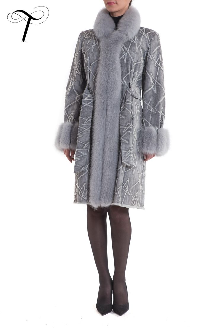 FOX TRIM FUR COAT WITH BROCADE EXTERIOR  This unusual #coat is a #chic #outfit for every hour of the day. Cut in a fitted line it is crafted from soft sheared rabbit #fur as the lining of the coat and has an original exterior processed in a #brocade-like fashion. A lavish #foxfur trimming adorns the collar, both front edges and the cuffs.It can be easily paired with any #outfit . #toutountzisfurs #furcoat #fourrure #mexa #pelliccia #elegance #fachion #winterfashion #furfashion #furstyle…