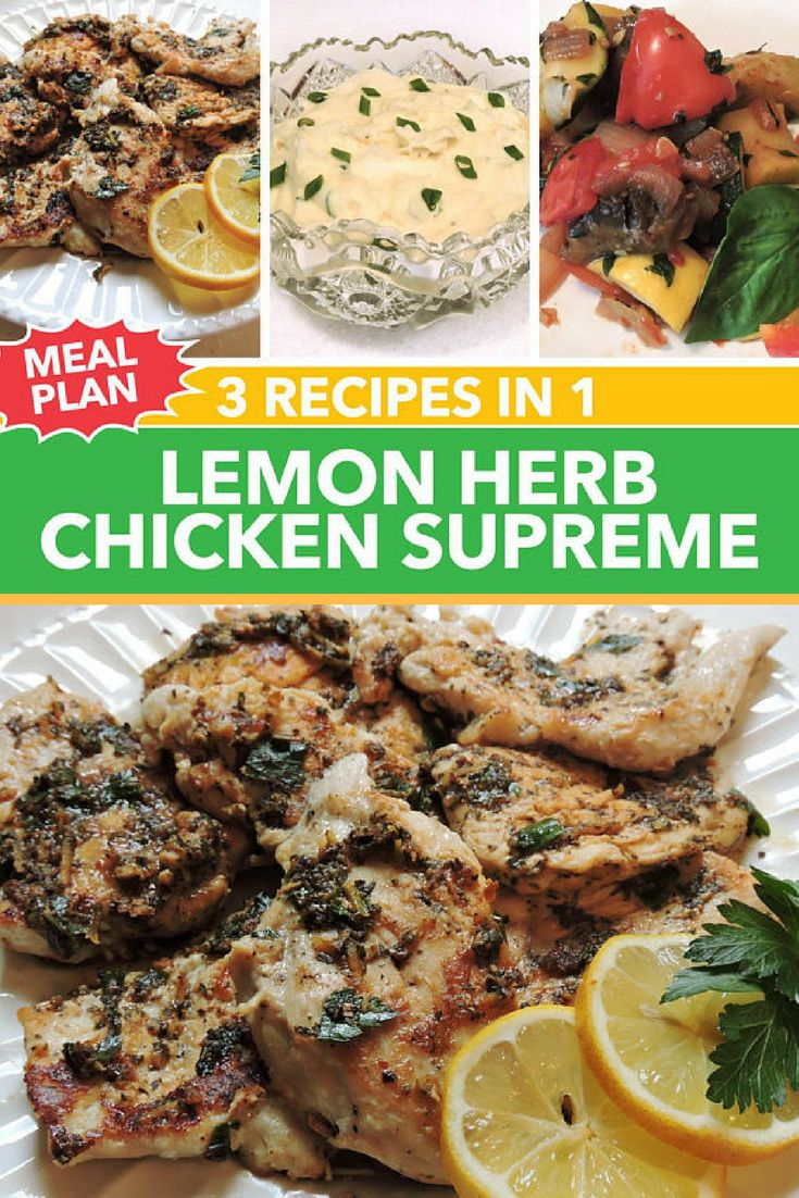 The 25 best cooking with herbs pdf ideas on pinterest cooking 3 recipes in 1 lemon herb chicken supreme meal plan downloadable pdf or jpeg eating cleaner forumfinder Image collections