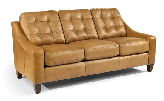 FLEXSTEEL The Domestically Produced Payton Leather Sofa